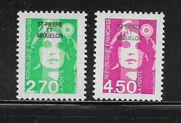 SAINT PIERRE ET MIQUELON  ( SPM9 - 316 )  1996  N° YVERT ET TELLIER  N° 630/631  N** - Unused Stamps