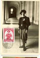 Vatikan MK : 450 Jahre Schweizergarde, Ausgabe 27.4.1956 , Gestempelt  12.9.1956 - Cartes-Maximum (CM)