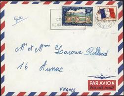 Mixte YT FM Franchise Militaire N°13 + Nouvelle Calédonie N°337 CAD Nouméa RP 1 1 1969 Troupes Groupe Pacifique Nouméa - Briefe U. Dokumente