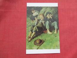 Huckleberry Finn  With Pipe Tom Sawyer & Joe Harper  Norman Rockwell     >  Ref 3521 - Paintings