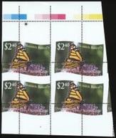 Niuafo'ou 2012, Butterflies, Val Of 2.40$, ERROR In Perforation, BF - Errori Sui Francobolli