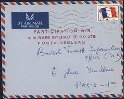YT FM 13 CAD Poste Armées 19 4 66 Camp Guynemer Fontainebleau Cachet Participation Air à La Base Interalliée 00270 - Postmark Collection (Covers)