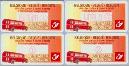 BELGIQUE Distributeurs Véhicules Postaux 3v 2010 Neuf ** MNH - Frankeervignetten