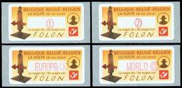 BELGIQUE Distributeurs Folon Adh 4v 2010 Neuf ** MNH - Frankeervignetten