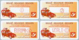 BELGIQUE Distributeurs Poste En Mouvement 2009 4v Neuf ** MNH - Automatenmarken (ATM)
