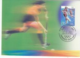 Australia 2000 Sydney Olympic Game Field Hockey Maxcard - Hockey (su Erba)