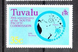 Tuvalu  - 1977. Geografia Delle Isole. Map Of The Islands. MNH - Geografia