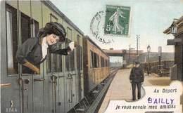78-BAILLY- AU DEPART DE BAILLY- JE VOUS ENVOIE MES AMITIES - France