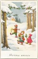 W4058 Bambini - Enfants - Children - Kinder - Nino - Illustrazione Illustration / Non Viaggiata - Scene & Paesaggi