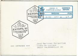 TENERIFE  CC CON ATM EPELSA Y MAT EXPOFIL XI 1992 COLON COLUMBUS - 1931-Hoy: 2ª República - ... Juan Carlos I