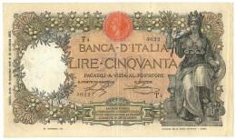 50 LIRE CAPRANESI BUOI TESTINA CONTRASSEGNO DECRETO PRIMA DATA 20/05/1916 BB/BB+ - Regno D'Italia - Altri
