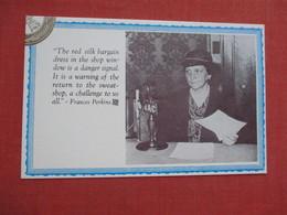 Frances Perkins  US Secretary Of Labor   Ref 3521 - Gewerkschaften