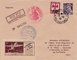 Lettre Essais De Lestage Nice-Grimaldi (Var ) France 1946 - Poste Aérienne