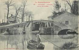 CPA 31 Haute Garonne Castanet L'Ecluse Route De Labege Attelage Barque Canal Du Midi Tolosan - France