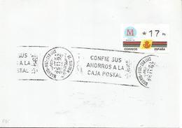 MADRID CC CON ATM KLUSSENDORF 3 DIGITOS MADRID CAPITAL CULTURA PRIMER DIA FDC - 1931-Hoy: 2ª República - ... Juan Carlos I