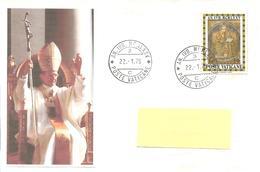 VATICANO - 1975 ANNO SANTO Annullo Ordinario AN.IVB.MCMLXXV 3 C (ufficio Centrale) - Popes