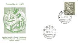 VATICANO - 1975 ANNO SANTO Annullo Ordinario AN.IVB.MCMLXXV 6 C (ufficio Centrale) - Popes