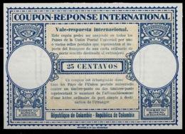 COLOMBIA / COLOMBIE Lo14 25 CENTAVOSInternational Reply Coupon Reponse IAS IRC Antwortschein Mint ** - Kolumbien