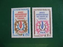 POLYNESIE YVERT POSTE ORDINAIRE N° 62/63 NEUFS** LUXE COTE 26,40 E - Unused Stamps