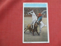 Bull Fight Picador & Horse Charged By Bull Juarez Mexico          Ref 3521 - Corrida