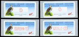 BELGIQUE Distributeurs Aigle 2011 4v Neuf ** MNH - Automatenmarken (ATM)