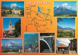 38 - Isère - Le Trièves - Multivues - Carte Géographique - Carte Neuve - Voir Scans Recto-Verso - France
