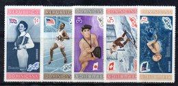 APR2029 - REPUBBLICA DOMINICANA 1958 , Serie Yvert N.  504/508   ***  MNH  (2380A)  Melbourne - Repubblica Domenicana