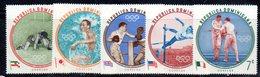 APR2031 - REPUBBLICA DOMINICANA 1960 , Serie Yvert N.  542/546   ***  MNH  (2380A) Olimpiadi Roma - Repubblica Domenicana