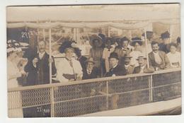 Abbazia Opatija - People On Boat Old Photo(postcard) Travelled 1909 To Bjelovar B190801 - Croatia