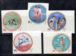 APR2032 - REPUBBLICA DOMINICANA 1960 , Serie Yvert N.  542/546   ***  MNH  (2380A) Roma. NON Dentellati - Repubblica Domenicana