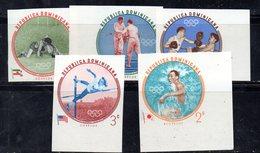 APR2035 - REPUBBLICA DOMINICANA 1960 , Serie Yvert N.  542/546   ***  MNH  (2380A) Roma. NON Dentellati - Repubblica Domenicana