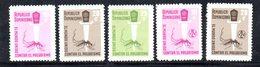 APR2033 - REPUBBLICA DOMINICANA 1962 , Serie Yvert N.  566/570   ***  MNH  (2380A) Malaria - Repubblica Domenicana