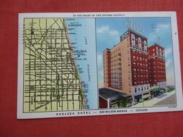 Map ---Chelsea Hotel  - Illinois > Chicago    Ref 3522 - Chicago