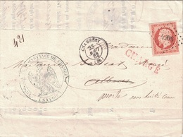 "SAVOIE - CHAMBERY - EMPIRE - N°16 OBLITERATION PC4206 - LETTRE CHARGEE DU TRIBUNAL DE CHAMBERY - ""Morte Sans Héritié"" MA - Postmark Collection (Covers)"