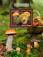 SIERRA LEONE 2019 - Mushrooms S/S. Official Issue [SL190610b] - Funghi