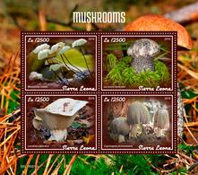 SIERRA LEONE 2019 - Mushrooms. Official Issue [SL190610a] - Funghi