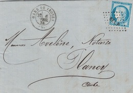 AUBE - GARE DE TROYES - CERES - N°60 OBLITERATION LOSANGE AMBULANT - BELP.P - LE 6 AVRIL 1874. - 1849-1876: Periodo Clásico