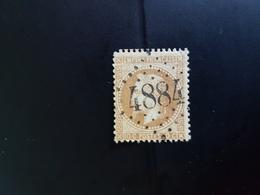N°28, 10 Cts Bistre,  GC 4884, Ige, Orne. - Marcophilie (Timbres Détachés)