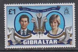 Gibraltar 1981 Royal Wedding Charles & Diana 1v ** Mnh (43936) - Gibraltar