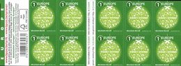 BELGIQUE Carnet Voeux 2015(vert)  Neuf ** MNH - Carnets 1953-....