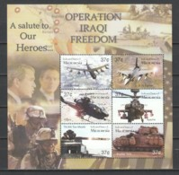 Micronesia 2003 Kleinbogen Mi 1421-1426 MNH OPERATION IRAQI FREEDOM - Airplanes
