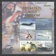 Micronesia 2003 Kleinbogen Mi 1427-1432 MNH OPERATION IRAQI FREEDOM - Airplanes