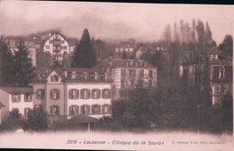 Lausanne, Clinique De La Source + Publicité Conférence De Fr. Meylan à Ballaigues Au Verso (2519) - VD Vaud