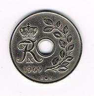 //  DENEMARKEN  25 ORE  1969 - Danemark