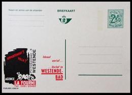 BELGIQUE ENTIER CP PUBLIBEL N° 2393 N . AGENCE LA FOURMI . WESTENDE-BAD   . NEUF - Stamped Stationery