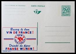 BELGIQUE ENTIER CP PUBLIBEL N° 2537 F. BUVEZ DU BON VIN DE FRANCE     . NEUF - Stamped Stationery