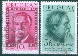 URUGUAY #C169/C171  - JOSE' BATTLE Y ORDONEZ - 1956 Used - Uruguay