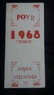 CPSM DOUBLE POUR 1968 SOYEZ OPTIMISTE  UN ACCIDENT EST SI VITE ARRIVE   LIT MALADE POT DE CHAMBRE FORMAT 9.5 PAR 21 - Humour