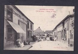 Vente Immediate Jalons Les Vignes (51) Cafe Du Centre Bureau De Tabac ( Animée Ed. Virot Thiery) - France