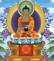 BHOUTAN Bloc Les 12actions De Bouddha Neuf ** MNH - Bhoutan
